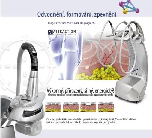 Cellulite reduction treatments, body firming, fat reduction with lipomassage device. Beauty studio Dana, Prague 9