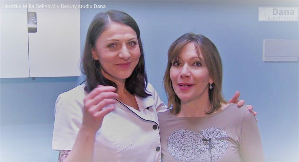 Herečku Míšu Dolinovou zajímají informace o všech procedurách v Beauty studio Dana, Praha 9