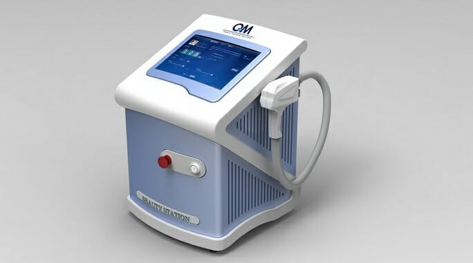 Foto diodového laseru 808 nm, který je nejúčinnější pro odstranění chloupků, Praha 9, Dana Clinic