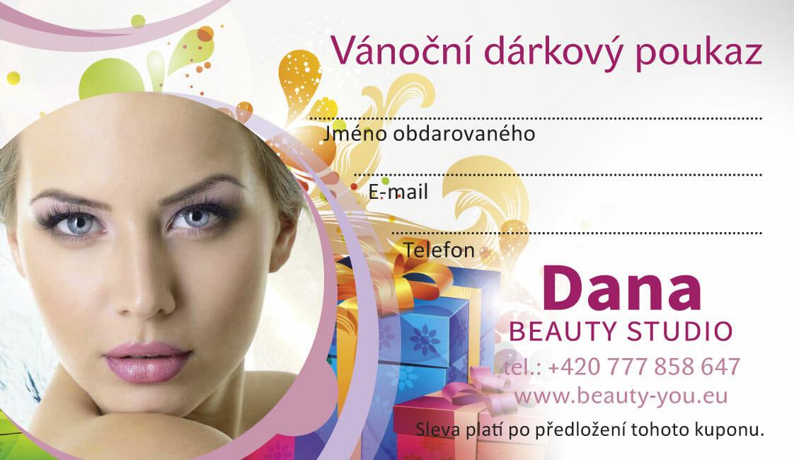 Vánoční dárkový poukaz. Bezbolestná liposukce a omlazení pleti, Dana Clinic, Praha 9