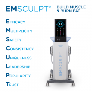 Přístroj Emsculpt je vhodný pro profesionální sportovce a modelky. Tvoří svaly a odstraňuje tuk. Praha 9, Beauty studio Dana
