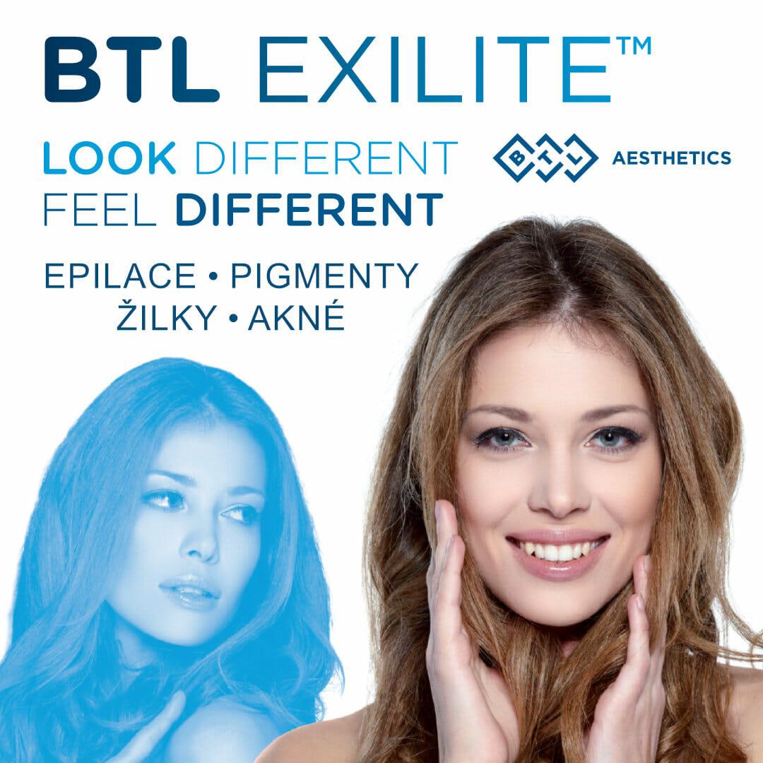 BTL Exilite - Fotoepilace, odstranění pigmentace, žilek a akné, Beauty Studio Dana, Praha 9