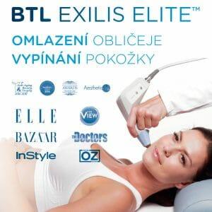 Ocenění za omlazení obličeje radiofrekvencí (facelifting) s Exilis Elite. Vrásky mizí jako zázrakem, současně redukuje tuk a zpevňuje povadlou pokožku, Praha 9