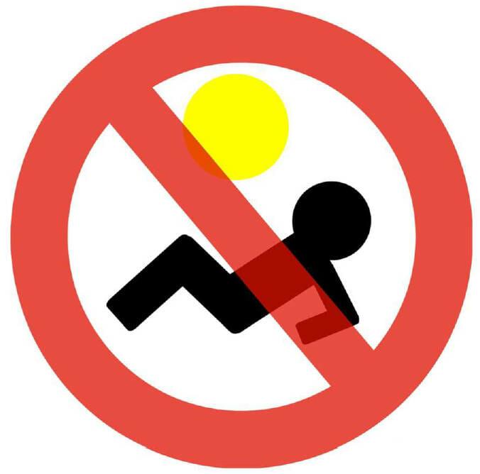 Zákaz opalování